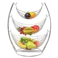 3 Tier Wire Fruit Basket Stand