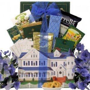 Chocolate Coffee Tea Gift Basket For Housewarming