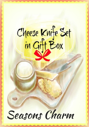 Stainless Steel Cheese Knife Set in Gift Box