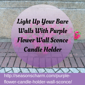 Floral Wall Sconce Candle Holder