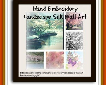 Hand Embroidery Landscape Silk Wall Art