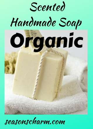 Scented organic handmade soap set