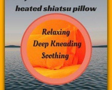 Rejuvenate with a heated shiatsu pillow