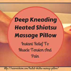 Deep Kneading Heated Shiatsu Massage Pillow