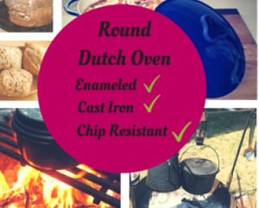 Enameled Cast-Iron 5-1_2-Quart Round French (Dutch) Oven, Cherry
