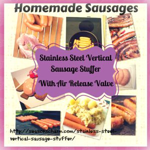 Stainless Steel Vertical Sausage Stuffer Home Use