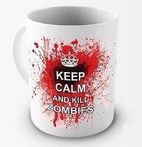 Funny Mug - Keep Calm And Kill Zombies - 11 OZ Coffee Mugs