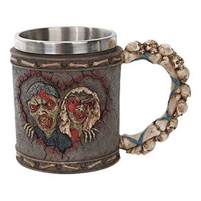 Walking Undead Zombie Wedding Drinking Mug Stainless Steel Rim