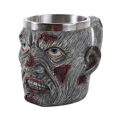 Zombie Head Stainless Steel Insert Mug 13oz