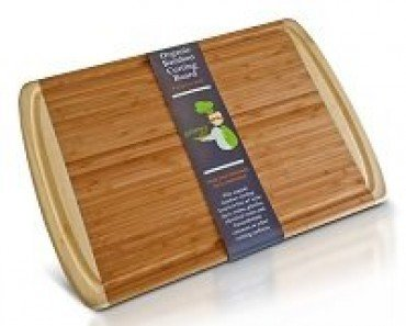 ORGANIC Bamboo Wood Cutting & Kitchen Chopping Board with Groove