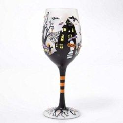 Enesco Lolita Wine Glass Fright Night Wine Glass 9 In