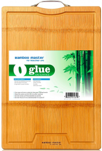 Healthiest Large Strong Thick Bamboo Cutting Board with Drip Groove by BAMBOO MASTER