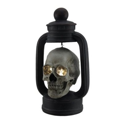 Scary Skull Lantern with Spooky LED Eyes