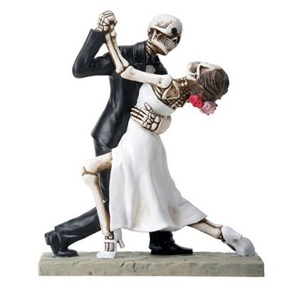 Skeleton Wedding Couple Dancing Day of the Dead