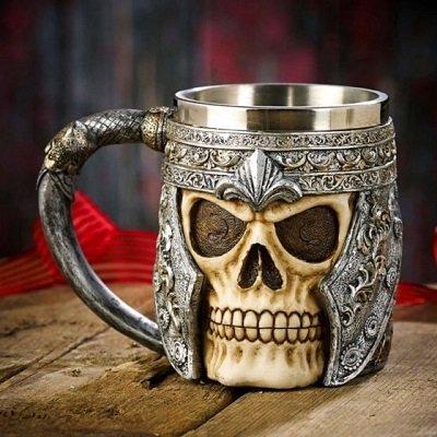 SSkull Skeleton 3D Skeleton Tankard Mug Cup