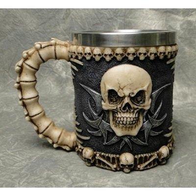 Skull Skeleton 3D Skeleton Tankard Mug