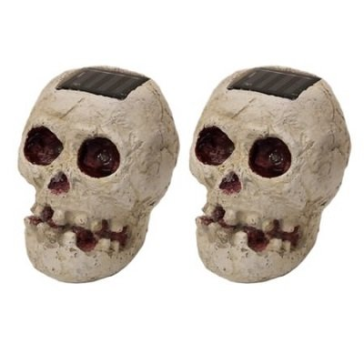 Solar LED Decoration Skull Fright Light 2 Pack