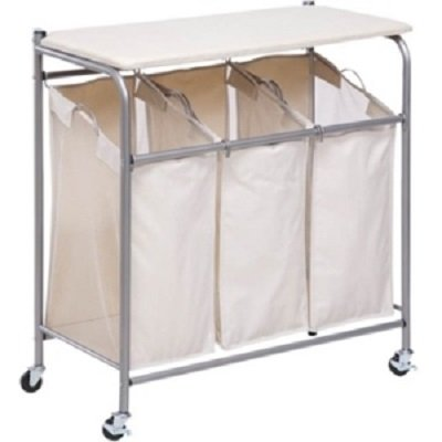 Honey Can Do Ironing Board and Laundry Sorter Combo