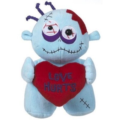 Love Hurts Valentines Day Zombie Plush