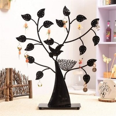 Bird Nest Jewelry Tree Earring Holder Bracelet Necklace Organizer Stand