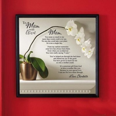 Personalized To Mom with Love Canvas Framed Art