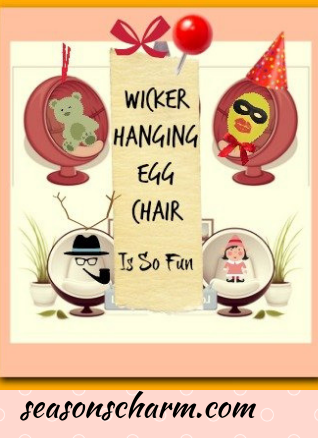 Wicker Hanging Egg Chair With Stand And Cushion