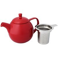 Curve 24-Ounce Teapot with Infuser, Red