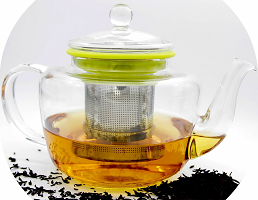 Glass Tea Kettle and Tea Infuser Set, 28 ounces
