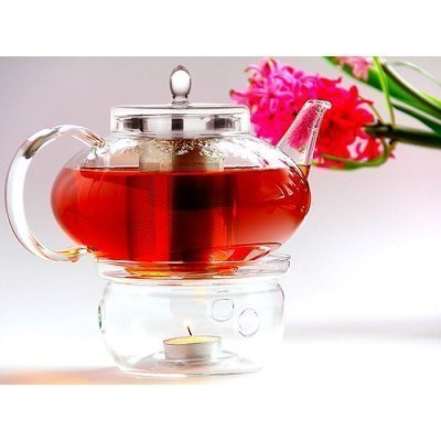 Tea Beyond Harmony 2 Piece Glass Teapot with Tea Warmer