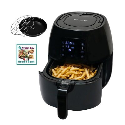 Avalon Bay Stainless Steel Healthy Air Fryer Kitchen Appliance