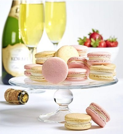 Dana's Bakery Champagne and Strawberries Macarons