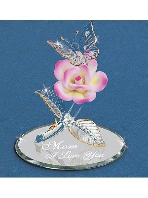 Glass Baron Butterfly Mom I Love You Figurine