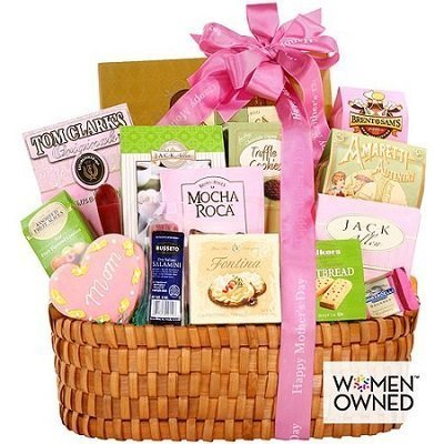 Mothers Day Gourmet Gift Basket for Mom