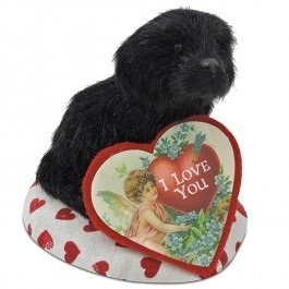 Byers' Choice Valentine Dog