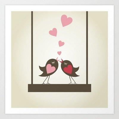 Love Birds Art Print Mini