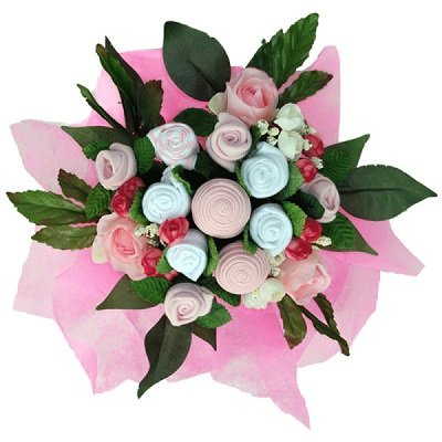 Beautiful Bundle - Pink Baby Clothes Bouquet