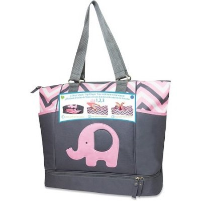 Tender Kisses Elephant Porta Bed Diaper Bag