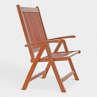 Capri Folding Arm Chair features 5 reclining positions