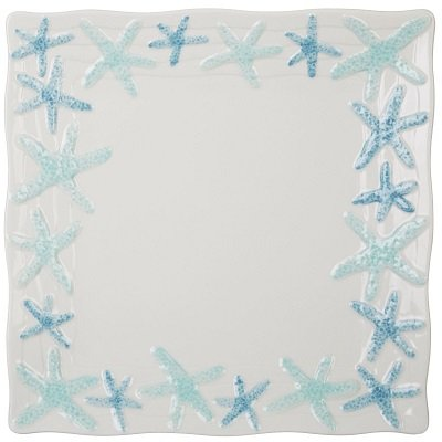 Gibson Cape Coral Starfish Dinner Plate