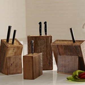 Reclaimed Wood Knife Blocks