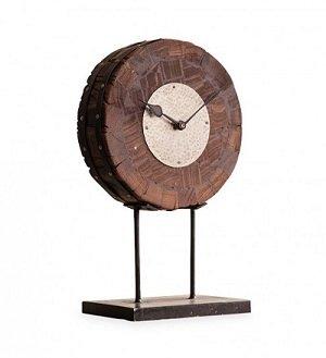 Reclaimed Wood Slice Table Clock