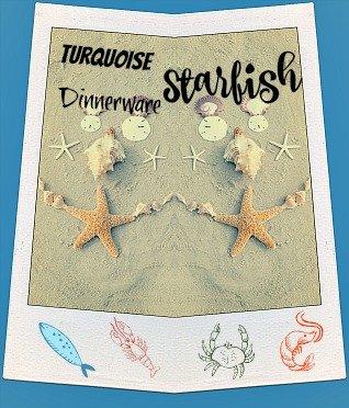 Turquoise Starfish Dinnerware Set