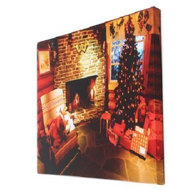 LED Home Christmas Decor Tree Xmas Canvas Print Wall Art