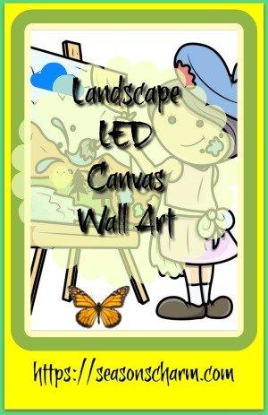 Lighted Landscape LED Canvas Wall Art • Seasons Charm
