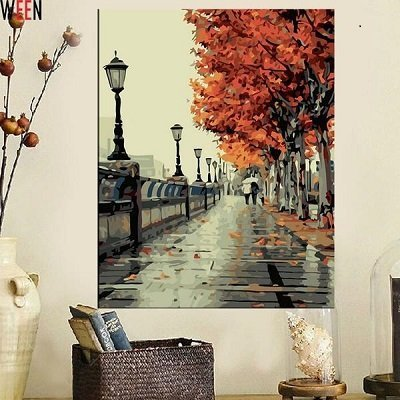 Canvas Art Oil Painting Landscape Coloring by Numbers