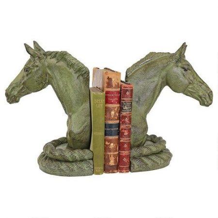 Equestrian Elegance Horse Cast Iron Sculptural Bookend Pair