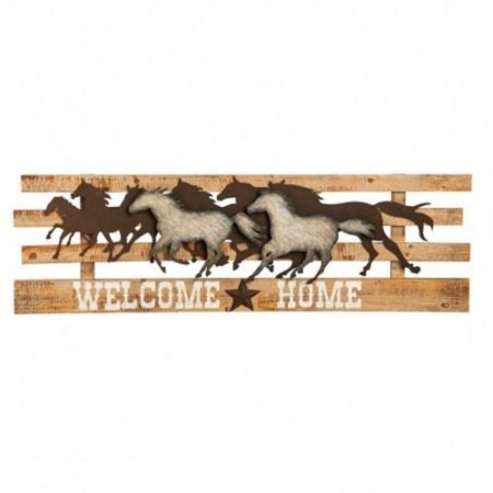 Galloping Horses Welcome Home Sign