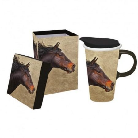 Horse on the Run Ceramic Travel Cup