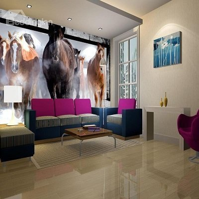 Horses Pattern Decorative 3D Wall Murals