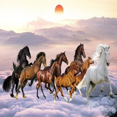 Horses Pattern Waterproof 3D Wall Murals